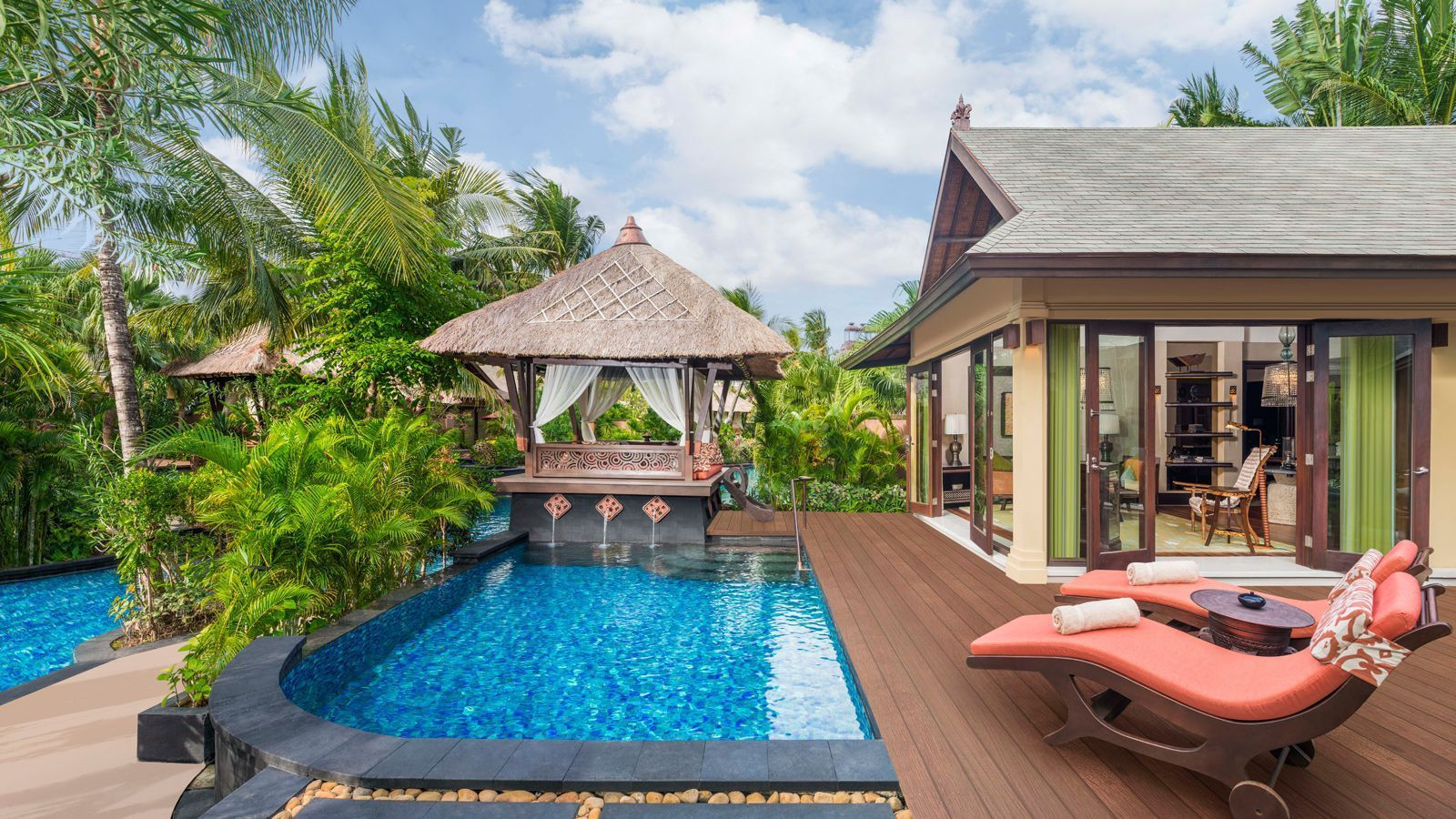 Lagoon Villa with Private Pool and Gazebo