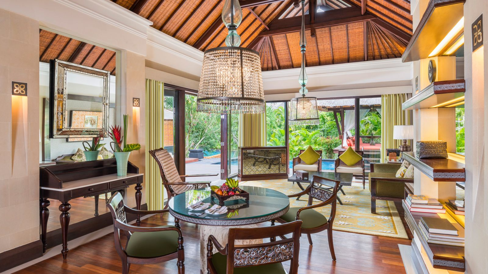 lagoon villa at St. Regis Bali - living room
