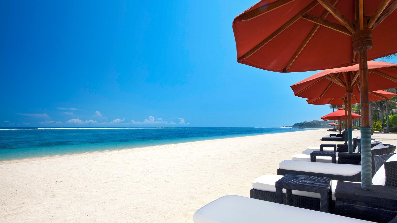 Prestine White Sand Beach at The St. Regis Bali Resort